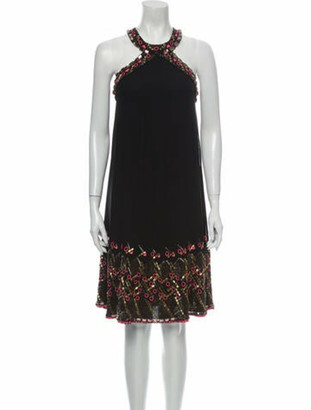 Matthew Williamson Silk Knee-Length Dress Black