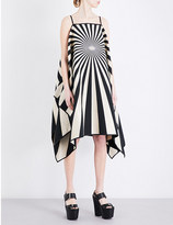 Gareth Pugh Striped vortex-print woven dress