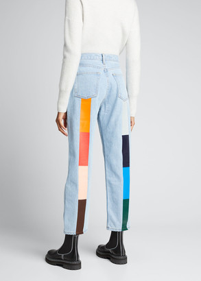 STILL HERE Harvest Rainbow Tate Crop Jeans