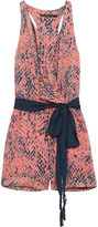 Vix Layla snake-print voile playsuit