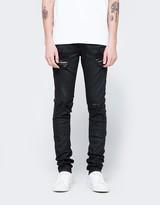 Off-White Diag Slim 5 Pockets Rips Black Clay Wash