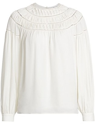 Frame Twisted Pleat Silk Blouse