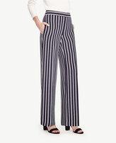 Ann Taylor Petite Striped High Waist Wide Leg Pants