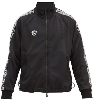 7 Moncler Fragment - Cube-embroidered Jersey Track Jacket - Black
