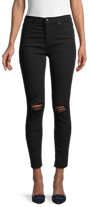 Joe's Jeans High-Rise Ripped Skinny Ankle Jeans