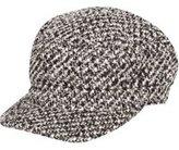 Dorothy Perkins Womens Black Tweed Baker Boy Hat- Black