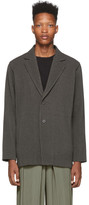 Issey Miyake Homme Plisse Grey Wool-Like Blazer