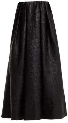 Simone Rocha Strapless Crinkled-effect Taffeta Dress - Womens - Black