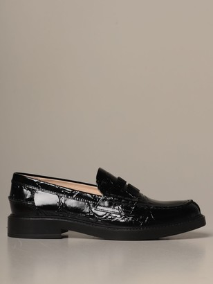 Tod's Tods Loafers Tods Loafers In Crocodile Print Leather