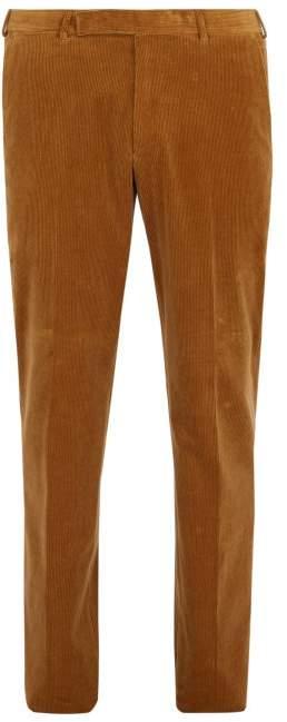 Ermenegildo Zegna Tailored Corduroy Trousers - Mens - Brown