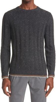 Eleventy Rib Donegal Cashmere Sweater