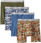 Fruit of the Loom Men's Print Solid X-Size Boxer Brief(Pack of 4)