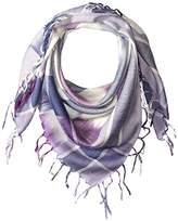 La Fiorentina Women's Plaid Checkered Scarf with Fringe
