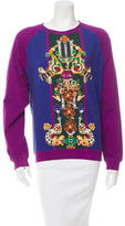 Mary Katrantzou Scoop Neck Graphic Print Sweater