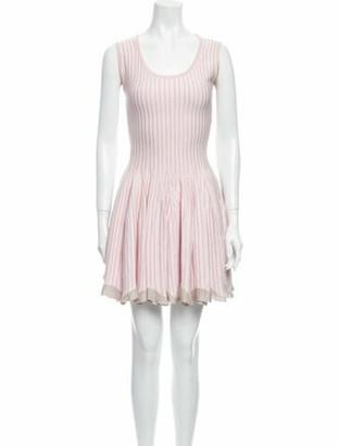 Alaia Striped Mini Dress Pink