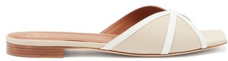 Malone Souliers Perla Contrast-strap Nappa-leather Slides - Nude