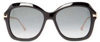 Jimmy Choo Tessy Square Acetate Sunglasses - Womens - Black