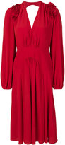 No.21 ruffle detail crepe dress