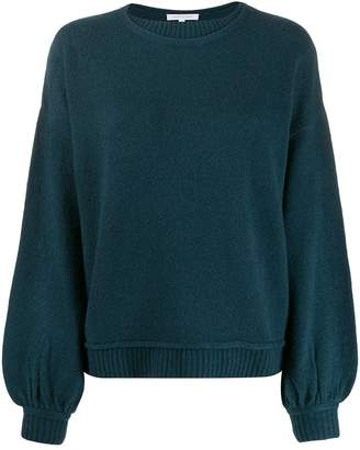 Patrizia Pepe ribbed trim knitted jumper