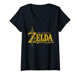 Womens The Legend Of Zelda: Breath Of The Wild Logo V-Neck T-Shirt