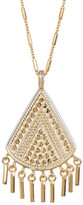 Anna Beck 18K Gold Plated Sterling Silver Fringe Drop Pendant Necklace