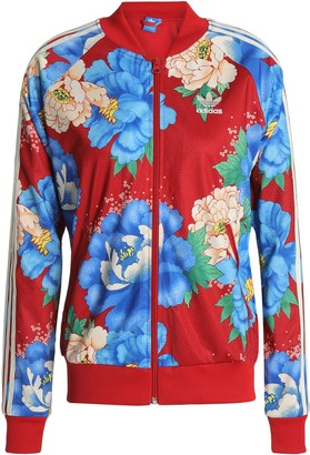 adidas Floral-print Jersey Track Jacket