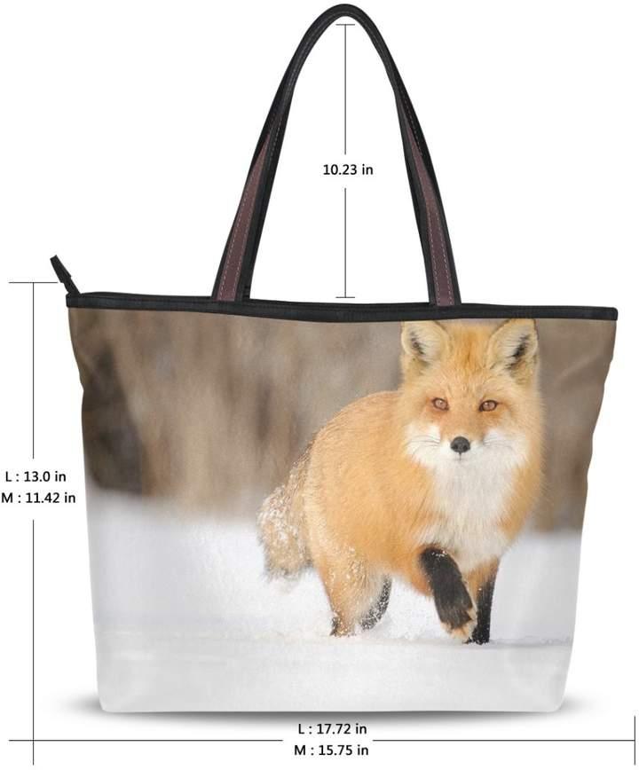 16b920c749c6 JSTEL Women Large Tote Top Handle Shoulder Bags Fox Ladies Handbag