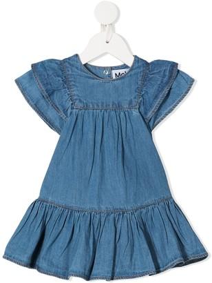 Molo Ruffled Denim Dress