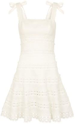 Zimmermann Kirra ivory linen mini dress