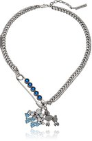 "Marc Jacobs Resort 2016"" -Safety Pin Poodle Chain Necklace, 16.5"" + 2"" Extender"