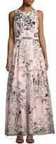 Eliza J Jewelneck Sleeveless Printed Gown