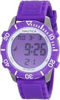 Nautica Women's Nsr N09931G Purple Silicone Quartz Watch