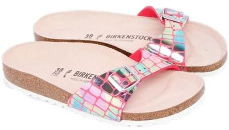 Birkenstock Madrid Mf Gator Gleam Raspberry - 36 (UK 3)