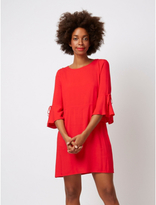 George Fluted Sleeve Woven Dress