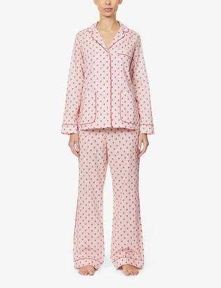 Yolke Graphic-print cotton pyjama set