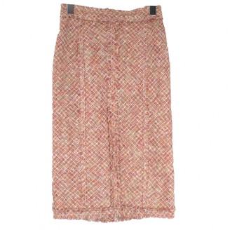 Louis Vuitton Pink Linen Skirt for Women