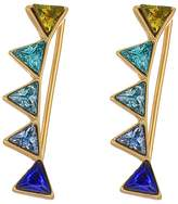 Rebecca Minkoff Stacked Triangles Ear Climber Earrings Earring