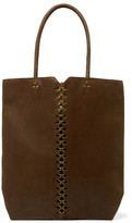 Jerome Dreyfuss Dario Chain-Embellished Textured-Leather Tote