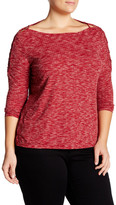Jessica Simpson Ribbed Long Sleeve Shirt (Plus Size)