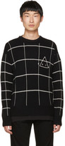 McQ Black 'End' Grid Sweater