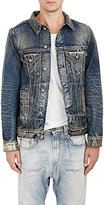 R 13 Men's Trucker Denim Jacket-NAVY