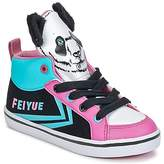 Feiyue DELTA MID ANIMAL Black / Blue / Pink