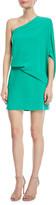Halston One-Shoulder Asymmetric-Sleeve Dress
