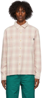 Stussy Pink Plaid Beach Shirt