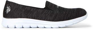 U.S. Polo Assn. Black & Dark Grey Clone Slip-On Sneakers
