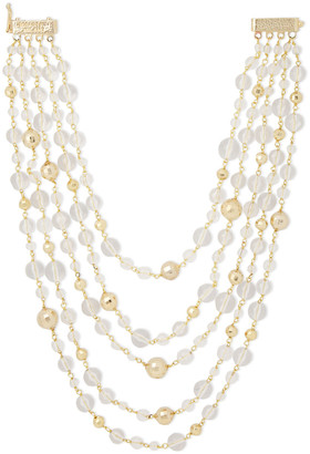 Rosantica Limpido Gold-tone Beaded Necklace