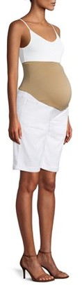 Time and Tru Maternity Denim Bermuda Shorts - Available in Plus Sizes