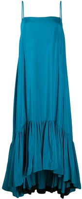 Gianluca Capannolo Ruffled Hem Silk Dress