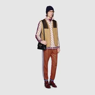 Gucci Moleskin vest with suede details