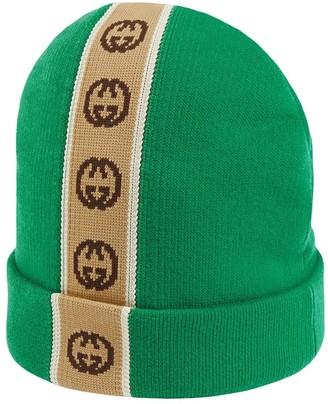 Gucci Kids hat with Interlocking G stripe